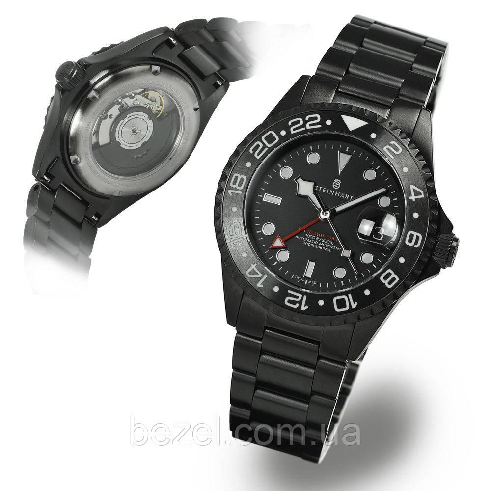 Чоловічі годинники Steinhart Ocean One GMT BLACK DLC 103-1011
