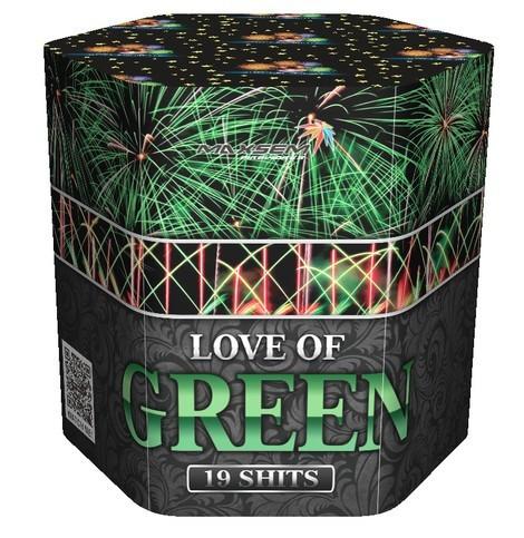 Салют LOVE OF GREEN Калібр 30 \ 19 пострілів SB-19-03