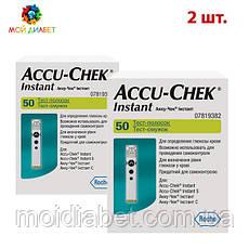Тест-смужки Акку Чек Інстант (Accu Check Instant) 2 упаковки
