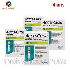 Тест-смужки Акку Чек Інстант (Accu Check Instant) 4 упаковки
