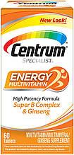 Мультивитамины Centrum Specialist Energy Adult 60 таблеток