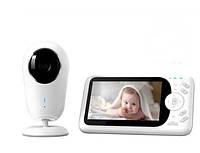 Видеоняня Baby Monitor VB608 4.3 Original JKR с датчиком звука, ночное видение + термометр, радионяня, няня