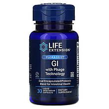 Life Extension, FLORASSIST, для ЖКТ с фаговой технологией, 30 капсул