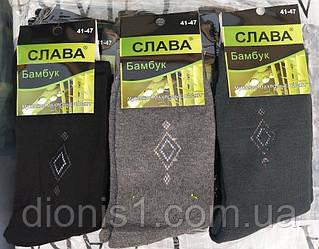 Шкарпетки чоловічі бамбук Слава зима махрові розмір 41-47 12 шт в уп.