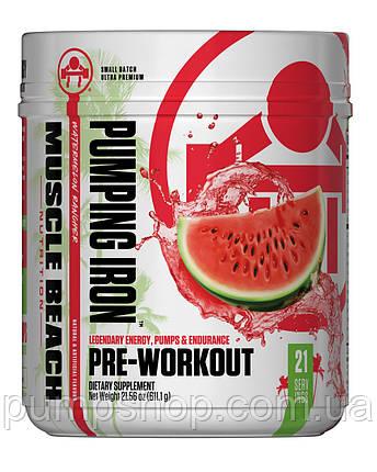 Предтренировочный комплекс Muscle Beach Nutrition Pumping Iron 21 порц., фото 2