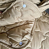 Ковдра двоспального розміру 4 сезони зима-літо 175х210 ОДА стьобана на кнопках 3 в 1, Колір - Бежевий, фото 5