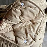 Ковдра двоспального розміру 4 сезони зима-літо 175х210 ОДА стьобана на кнопках 3 в 1, Колір - Бежевий, фото 6