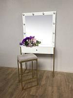 Гримерный стіл на металевих ніжках ЗОЛОТОГО кольору М616, фото 1