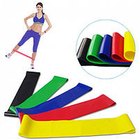 Набор фитнес резинки exercise resistance bands для фитнеса и спорта из 5 лент