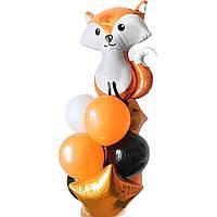 Композиции из воздушных шаров на день рождения с фольгированной фигурой Лысая