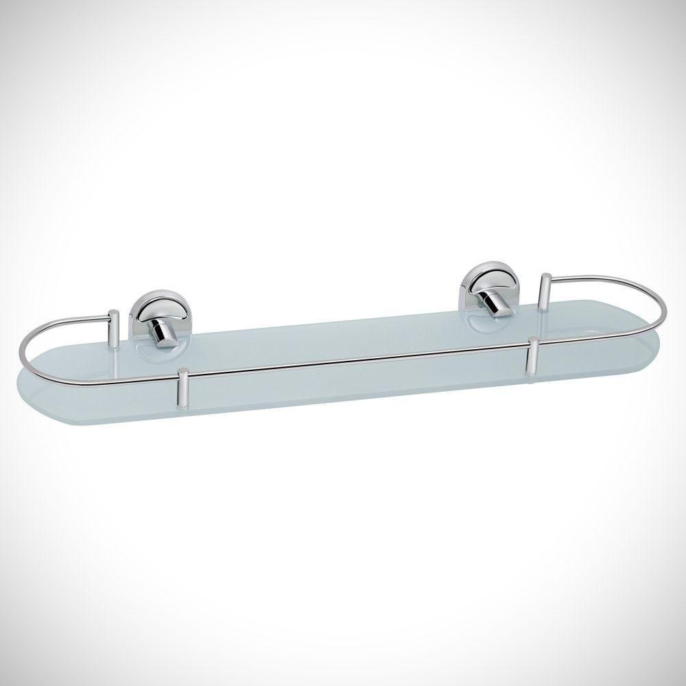 Полиця для ванної скляна Lidz (CRG) 114.09.02 настінна під дзеркало 52х16 см
