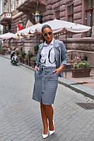 """Спідниця жіноча креп-костюмка меланж розмір 42-56 (2цв) """"VLADA"""" купити недорого від прямого постачальника"""