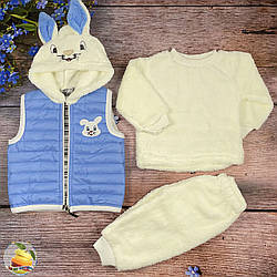 Тёпленький костюмчик с жилеткой для малыша Размер: 3- 6 месяцев (02465-2)