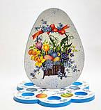 Подставка для кулича и яиц (большая)  №1 МДФ заготовка для декупажа и декора, фото 2