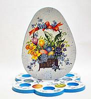 Подставка для кулича и яиц (большая)  №1 МДФ заготовка для декупажа и декора