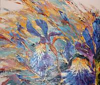 Картина цветы «Ирисы» купить картину цветы
