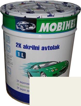 Автокраска 201 Белая акриловая Helios Mobihel 0,75л без отвердителя