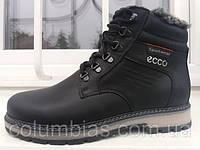 Зимние мужские кожаные ботинки , на меху