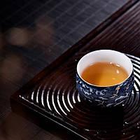 Чашка для чаювання розписна фарфор хмари з птахами 50 мл, фото 4