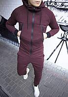 Спортивний костюм зимовий, теплий якісний чоловічий синій без логотипу, фото 1