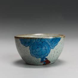 Чашка для чаювання розписна фарфор хмари 50 мл