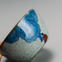 Чашка для чаювання розписна фарфор хмари 50 мл, фото 3