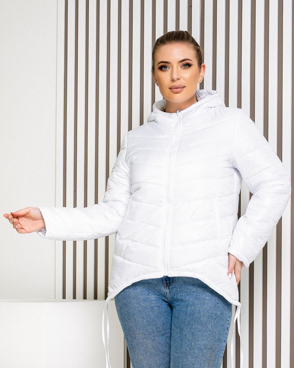 Куртка жіноча демісезонна з капюшоном, арт. 210, біла