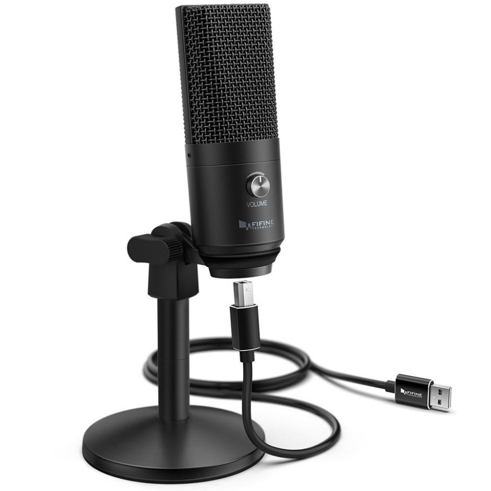 Студійний мікрофон для стріму Fifine K670B
