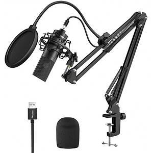 Микрофон стримера USB пантограф поп-фильтр Fifine K780A