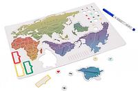 Магнитная карта мира Magnetic map 47*25 см, (рус. яз)