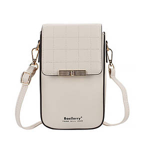 Женский кошелек Baellerry N8612 Beige модная сумка на одно плечо для девушек