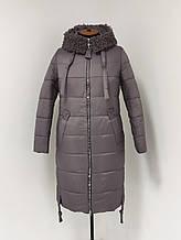 """Зимнее женское пальто с меховым воротником ArDi """"Лайт"""", лаванда"""