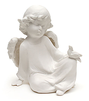 Ангел фарфор. бел., 12*13*8см