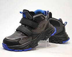 Кросівки утеплені для хлопчика ТОМ.М  сірий-синій 33-38 р