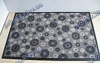 Коврик грязезащитный Снежинки, 40х60см., серый