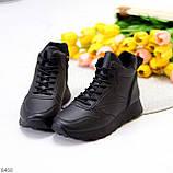 Універсальні високі чорні жіночі кросівки на флісі осінь 2021, фото 6