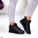 Універсальні високі чорні жіночі кросівки на флісі осінь 2021, фото 8