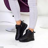 Універсальні високі чорні жіночі кросівки на флісі осінь 2021, фото 9