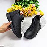 Універсальні високі чорні жіночі кросівки на флісі осінь 2021, фото 10
