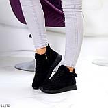 Универсальные высокие черные замшевые женские кроссовки на флисе осень 2021, фото 6