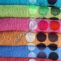 Махровое лицевое полотенце Кружочки (6)