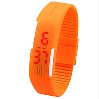 """Спорт-часы электронные наручные """"Sport LED"""" оранжевый"""