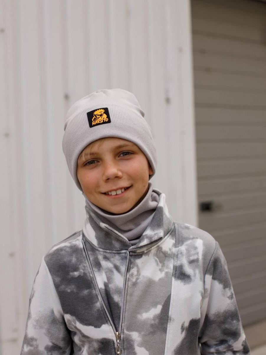 Комплект (шапка хомут) для хлопчика на весну-осінь оптом - Артикул 2944