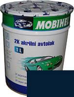 """Автокраска 456 Эмаль акриловая Helios Mobihel """"Темно-синяя"""" (0,75л) без отвердителя"""
