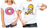 """Парные футболки """"Гомер"""""""