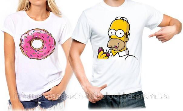 """Парные футболки """"Гомер"""", фото 2"""
