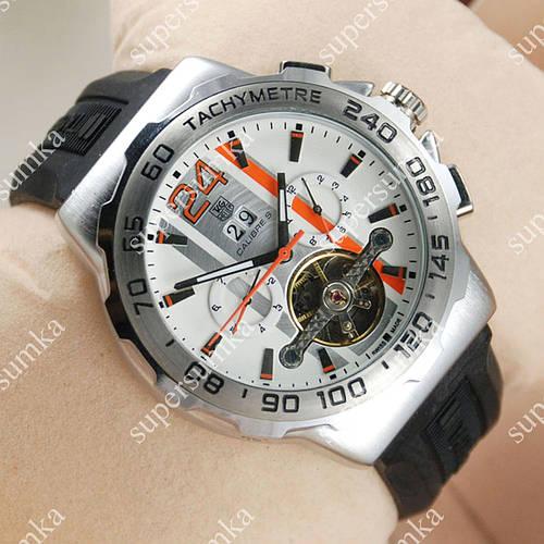 Модные наручные часы Tag Heuer Calibre S Silver/Silver 2102