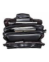 Мужская кожаная сумка для ноутбука и документов TidinBag черная - MK92354, фото 2