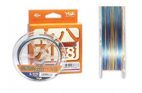 Шнур плетений YGK Veragass PE x8 150m (1.5 (30lb / 13.61 kg))