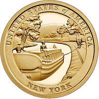 США 1 доллар 2021 Нью-Йорк, Канал Эри, Американские Инновации